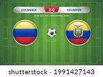 colombia vs ecuador scoreboard... | Shutterstock .eps vector #1991427143