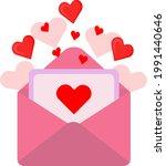 vector romantic envelope. in... | Shutterstock .eps vector #1991440646
