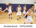 high school students playing... | Shutterstock . vector #199144400