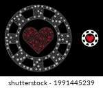 flare mesh hearts casino chip... | Shutterstock .eps vector #1991445239
