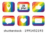 a set of stickers with elements ... | Shutterstock .eps vector #1991452193