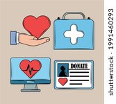 health stuff as kit first aid | Shutterstock .eps vector #1991460293