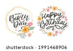 beautiful happy birthday... | Shutterstock .eps vector #1991468906