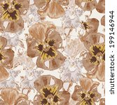 floral seamless background  | Shutterstock . vector #199146944