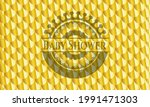 baby shower golden emblem.... | Shutterstock .eps vector #1991471303
