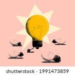 good idea or working idea... | Shutterstock .eps vector #1991473859