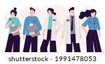 group of different doctors ...   Shutterstock .eps vector #1991478053
