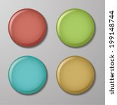 blank color badges buttons | Shutterstock .eps vector #199148744
