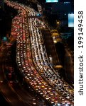 traffic jam on express way... | Shutterstock . vector #199149458