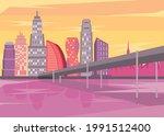 metropolis buildings with...   Shutterstock .eps vector #1991512400