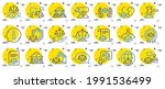 court line icons. scales of... | Shutterstock .eps vector #1991536499