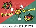 soccer game portugal vs germany.... | Shutterstock .eps vector #1991539379