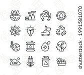 global environment icon set....