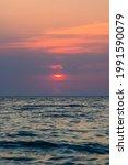 Summer Sea Sunset On The Pebble ...