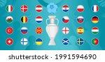 european football 2020  2021... | Shutterstock .eps vector #1991594690