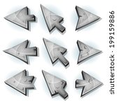 stone icons  cursor and arrows  ...