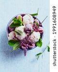 Raspberry Ice Cream With Fresh...