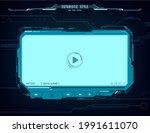 hud video player futuristic...