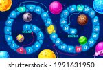 galaxy kids board maze  space...   Shutterstock .eps vector #1991631950