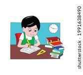 vector illustration of a child... | Shutterstock .eps vector #1991638490