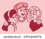 friendship day. happy meeting... | Shutterstock .eps vector #1991664476