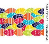 vector seamless horizontal...   Shutterstock .eps vector #1991671499