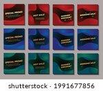 set of social media post... | Shutterstock .eps vector #1991677856