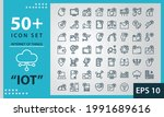 icon set internet of things ... | Shutterstock .eps vector #1991689616