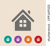 vector home icon in flat style...