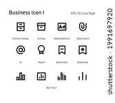 business pixel perfect set icon  | Shutterstock .eps vector #1991697920