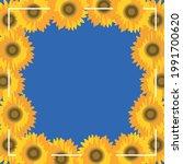 frame of yellow sunflowers on...   Shutterstock .eps vector #1991700620