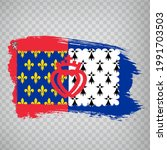 flag of pays de la loire brush...