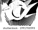abstract halftone lines grunge... | Shutterstock .eps vector #1991703593