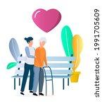 volunteer  social worker... | Shutterstock .eps vector #1991705609