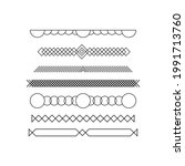 decorative text lines vector....   Shutterstock .eps vector #1991713760