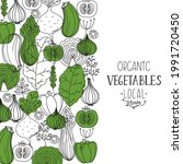 eco vegetables collection. hand ...   Shutterstock .eps vector #1991720450