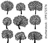 vector collection of tree... | Shutterstock .eps vector #199172576