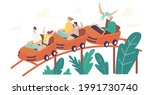 characters riding roller...   Shutterstock .eps vector #1991730740