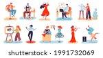 artistic people. men and women...   Shutterstock .eps vector #1991732069