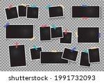realistic photo frames. empty... | Shutterstock .eps vector #1991732093
