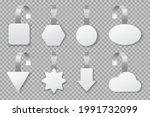 wobblers. blank supermarket...   Shutterstock .eps vector #1991732099
