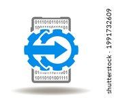 smartphone with gear mechanism...   Shutterstock .eps vector #1991732609