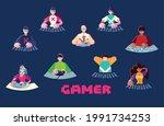 gamer character cartoon men... | Shutterstock .eps vector #1991734253