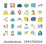 social media chat message email | Shutterstock .eps vector #1991734310