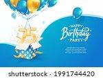 celebrating 75th years birthday ... | Shutterstock .eps vector #1991744420