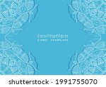 invitation or card template...   Shutterstock .eps vector #1991755070