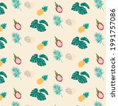 collage contemporary floral... | Shutterstock .eps vector #1991757086