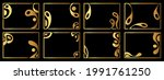 a set of eight gold frames....   Shutterstock .eps vector #1991761250