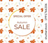 discount autumn banner with a...   Shutterstock .eps vector #1991766206
