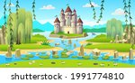 landscape with islands ... | Shutterstock .eps vector #1991774810